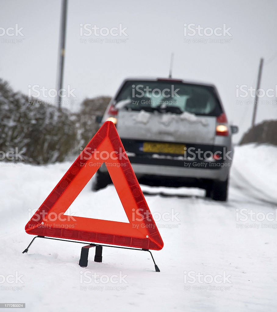 Snow Breakdown stock photo