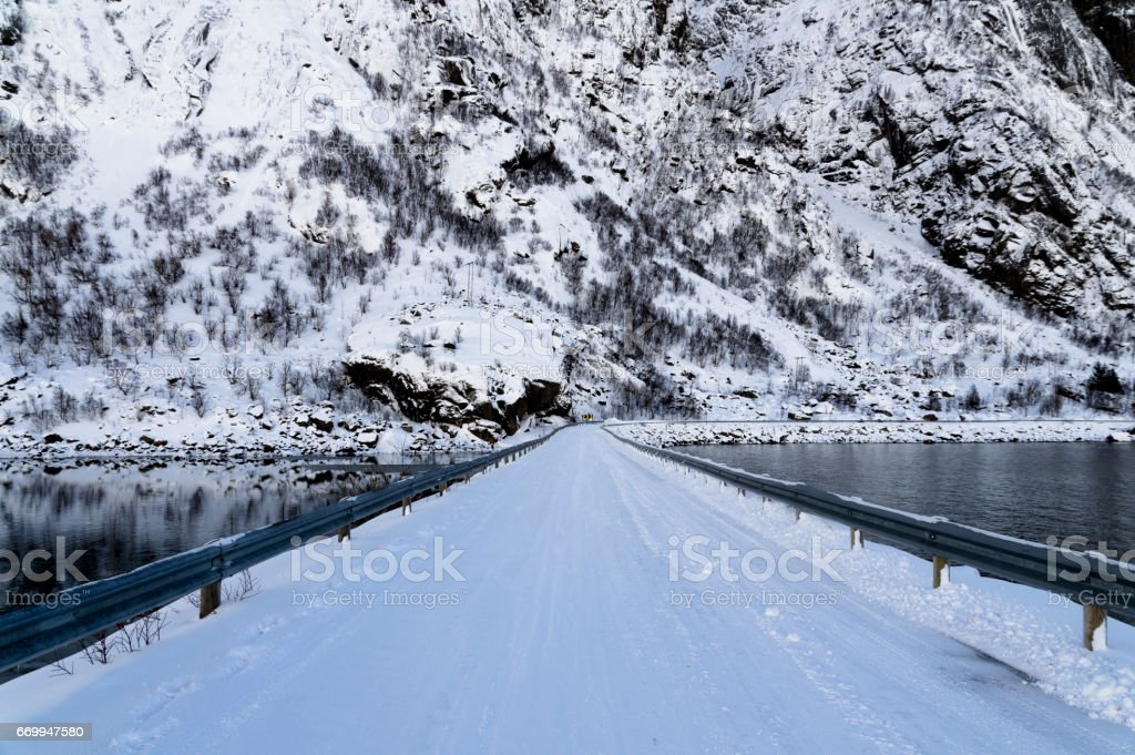 Snow Bridge stock photo