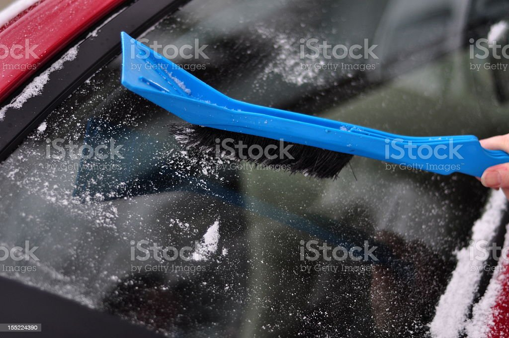 Snow Brush stock photo