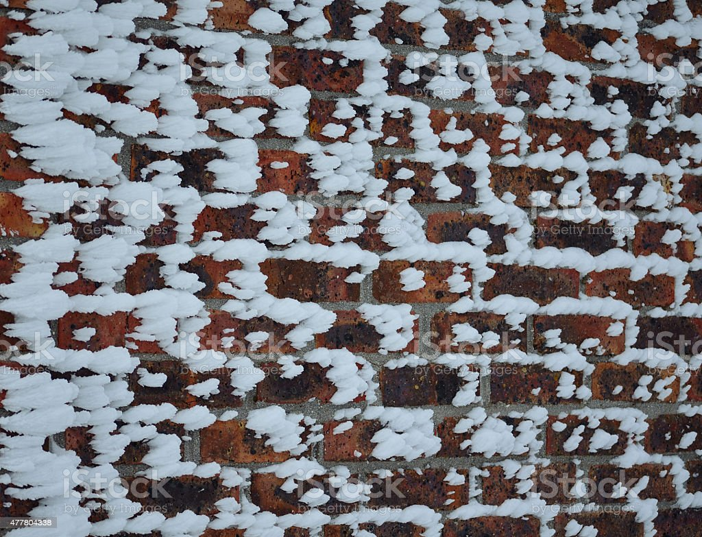 Snow brushed wall stock photo