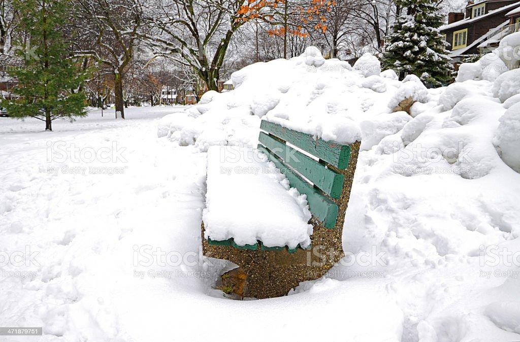 Snow Buried Neighbourhood stock photo