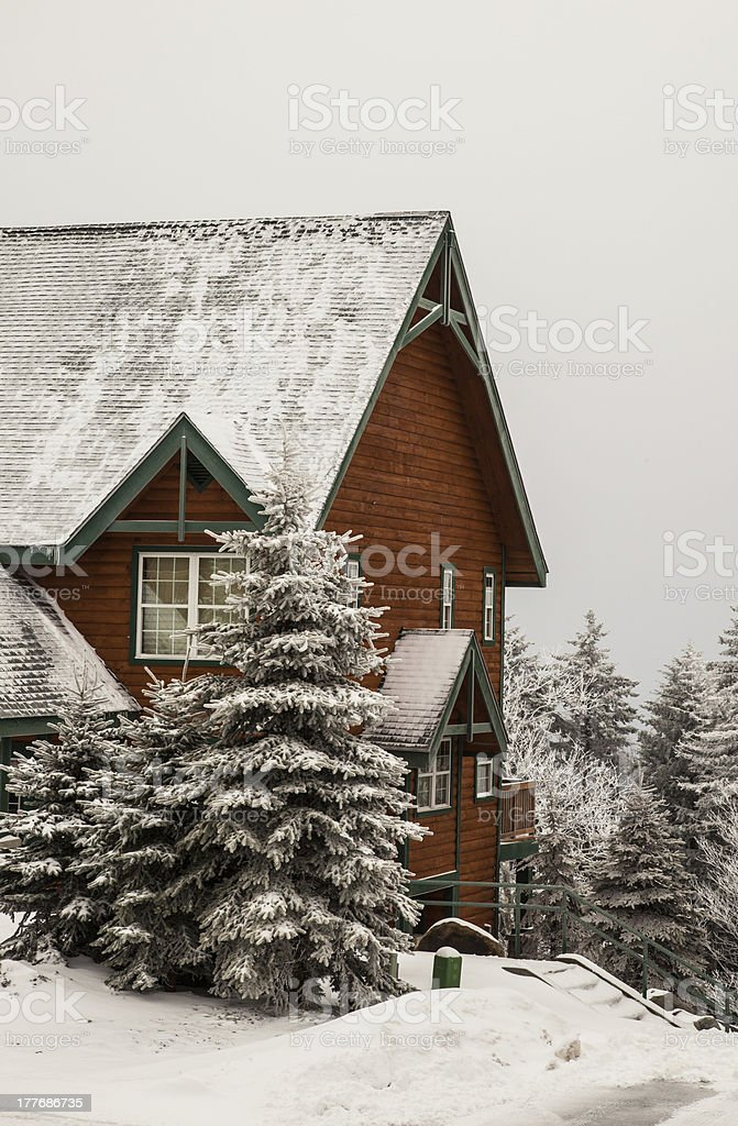 Snow Cabin royalty-free stock photo