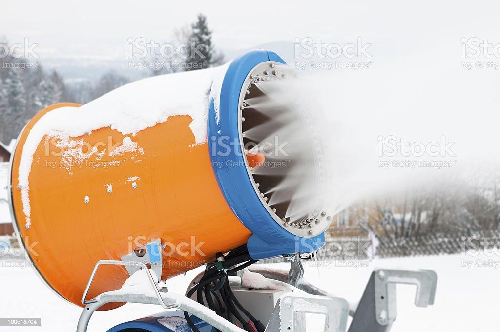 Canhão de neve foto royalty-free