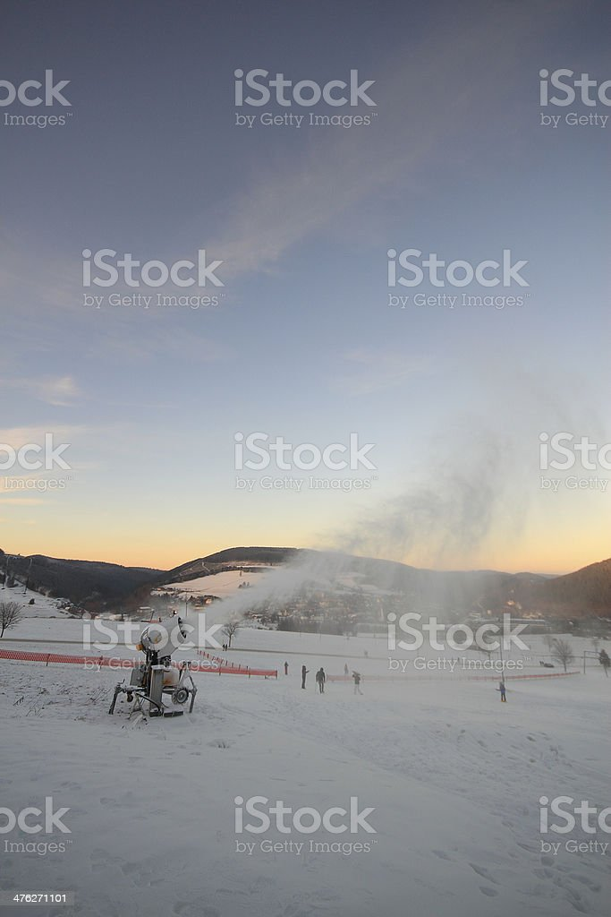 snow cannons royalty-free stock photo