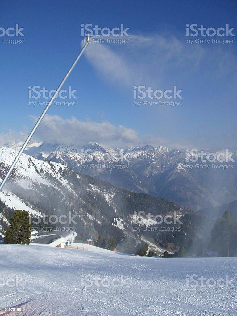 Snow canon stock photo
