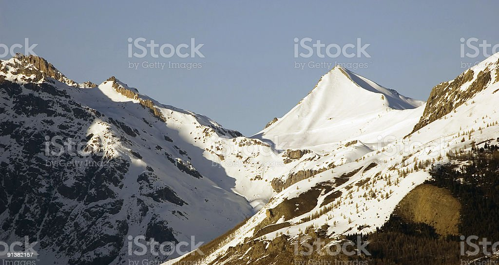 Snow cap royalty-free stock photo