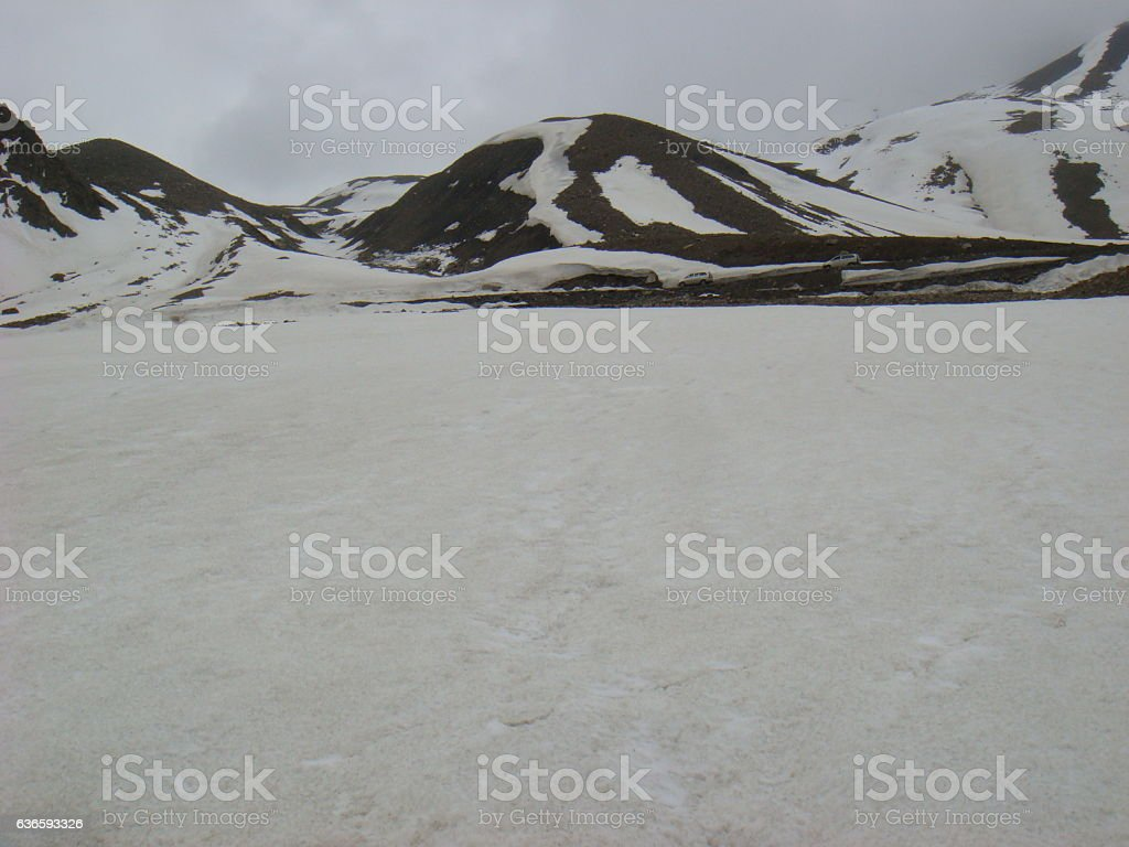 Snow Capped Hills stock photo