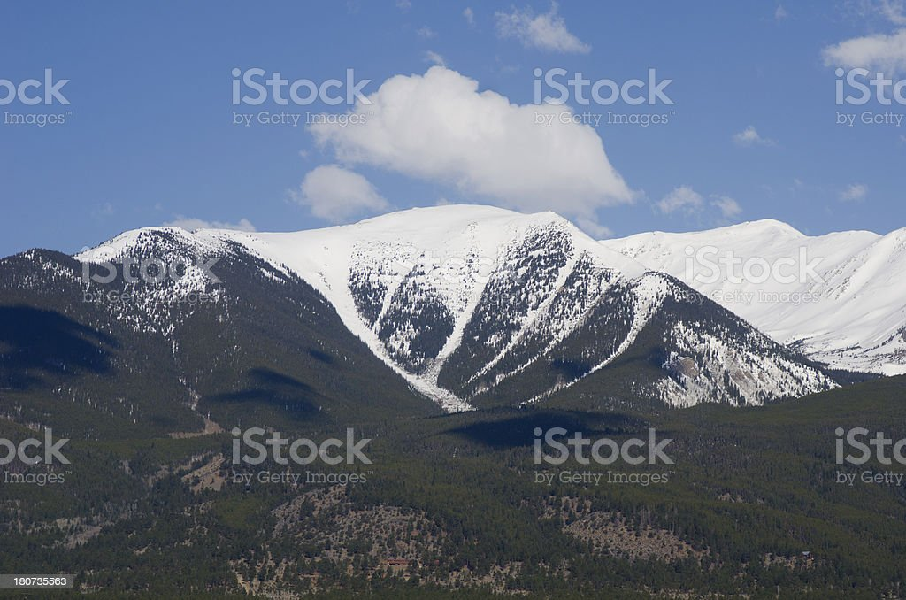 Snow Capped Mount Columbia royalty-free stock photo