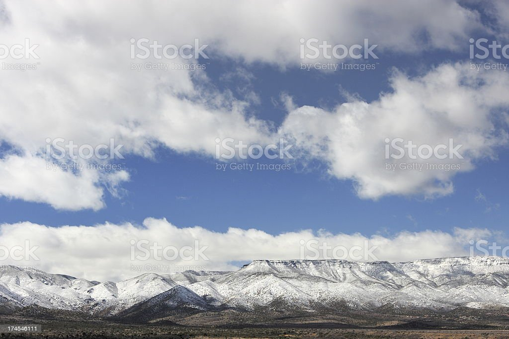 Snow Capped Mountain Wilderness Landscape stock photo