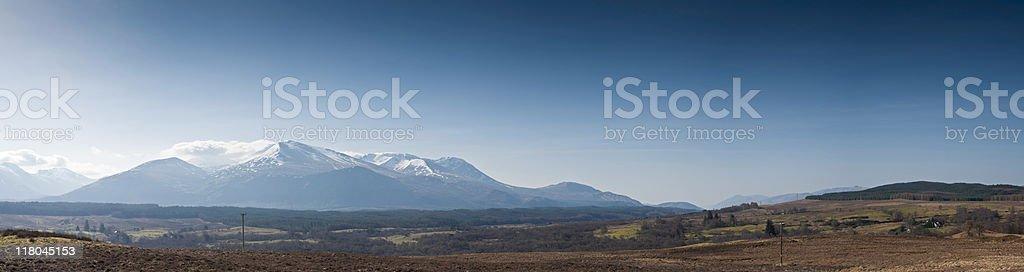 Snow capped mountains, Ben Nevis royalty-free stock photo