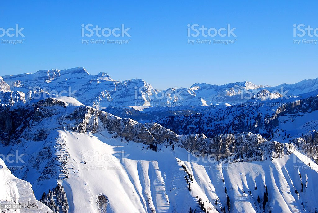 Snow capped mountains royalty-free stock photo