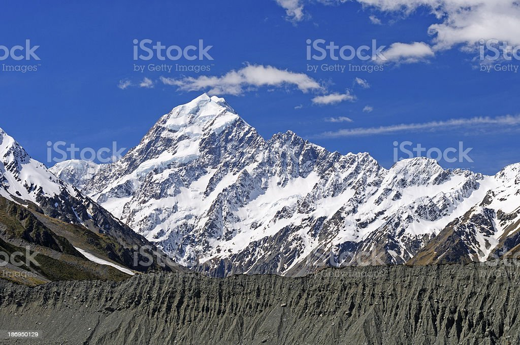 Snow capped Peak against the sky royalty-free stock photo