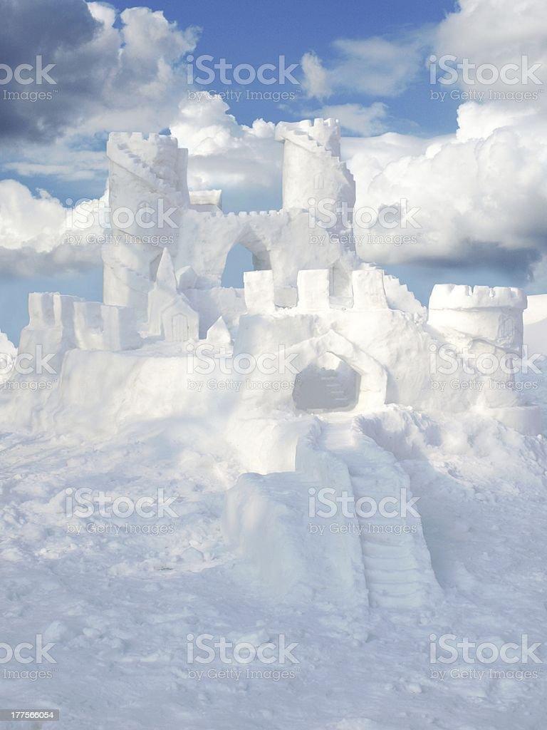 snow castle stock photo