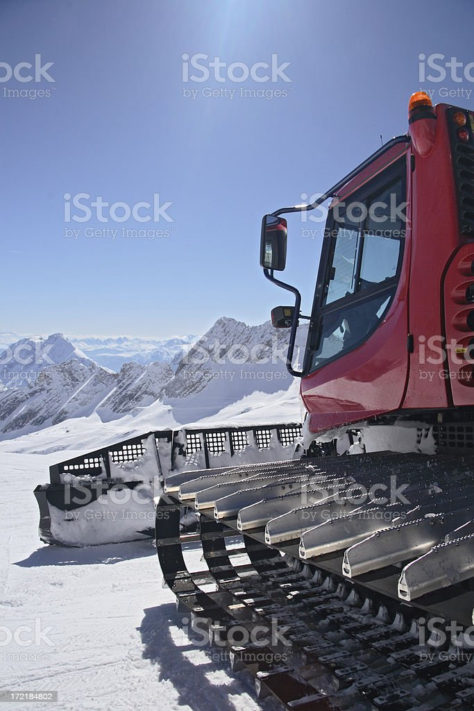 Snow Cat in Skiing Area royalty-free stock photo