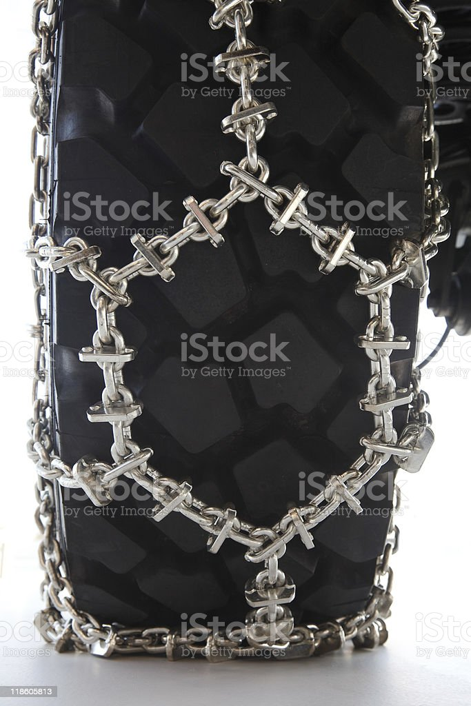 snow chain for trucks royalty-free stock photo