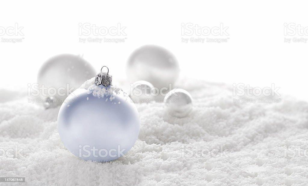 snow christmas ornaments royalty-free stock photo