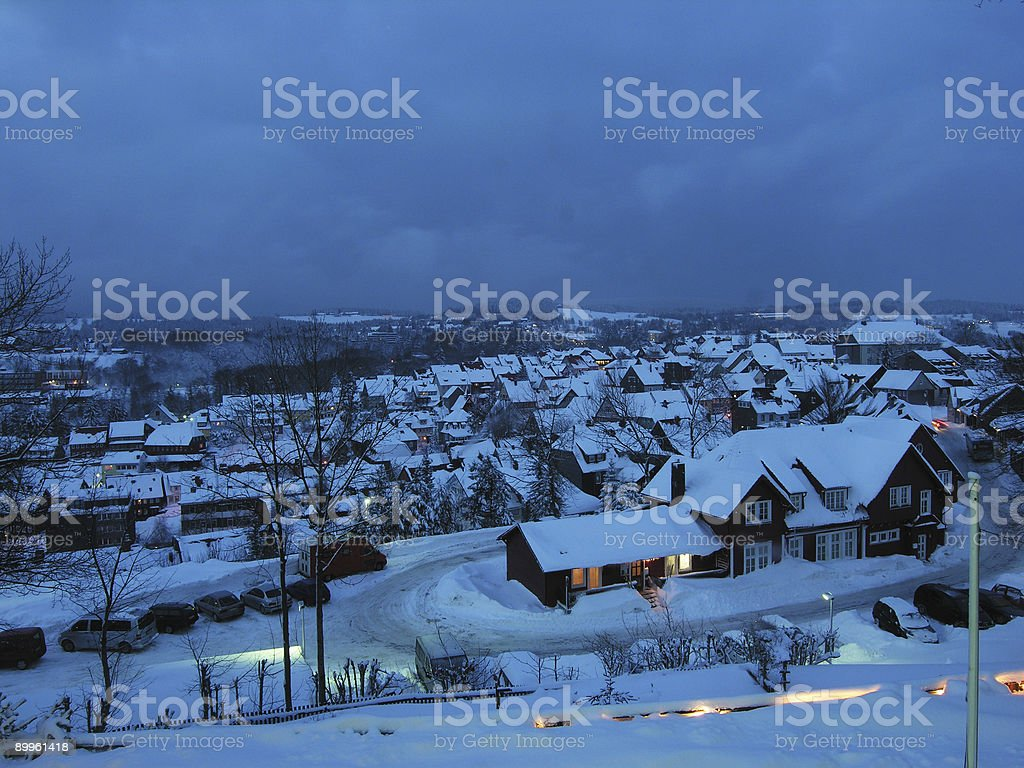 Snow City by Night royalty-free stock photo