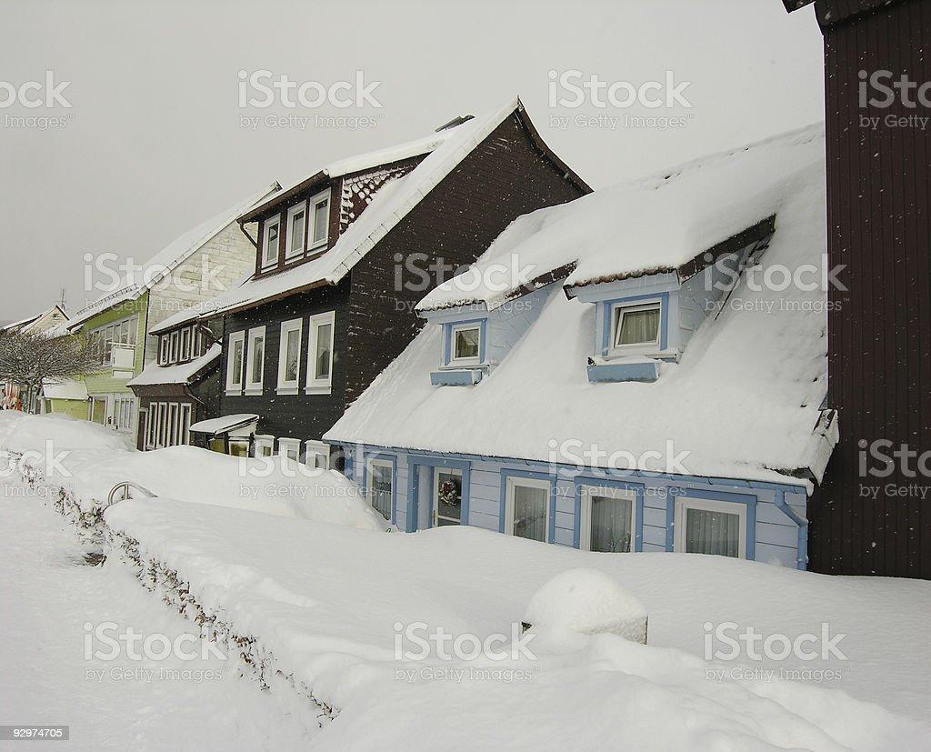 Snow City royalty-free stock photo
