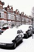 Snow cityscape