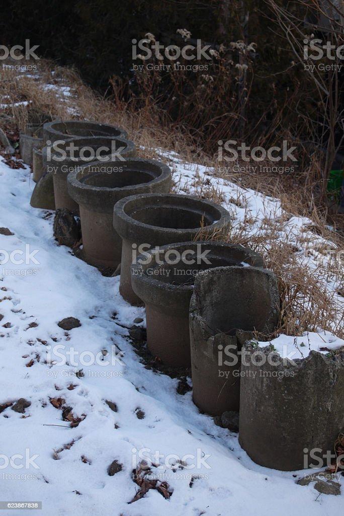 Snow clad stock photo