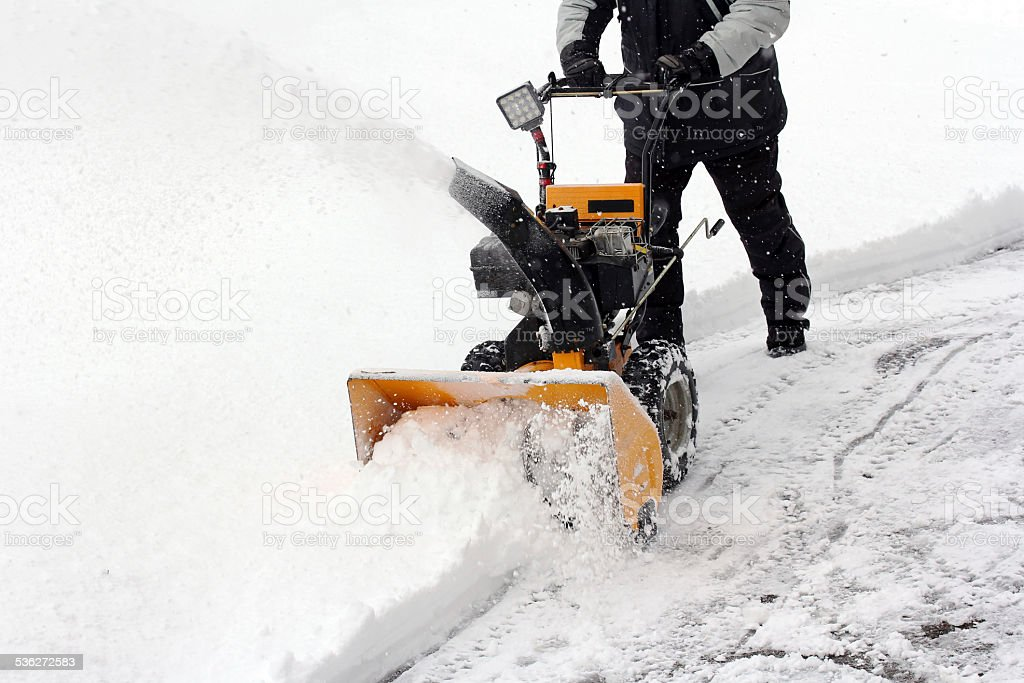 snow clearing stock photo
