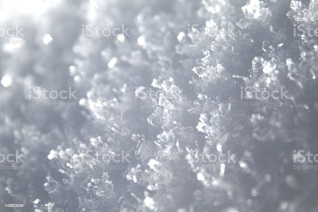 Snow Close-up royalty-free stock photo