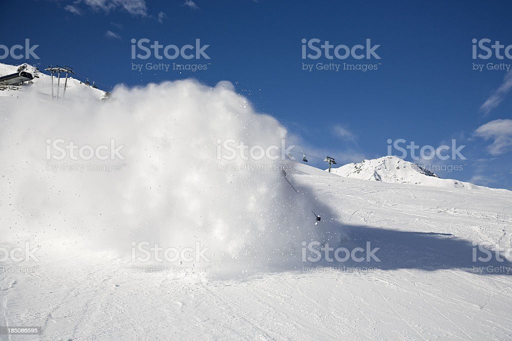 Snow cloud stock photo