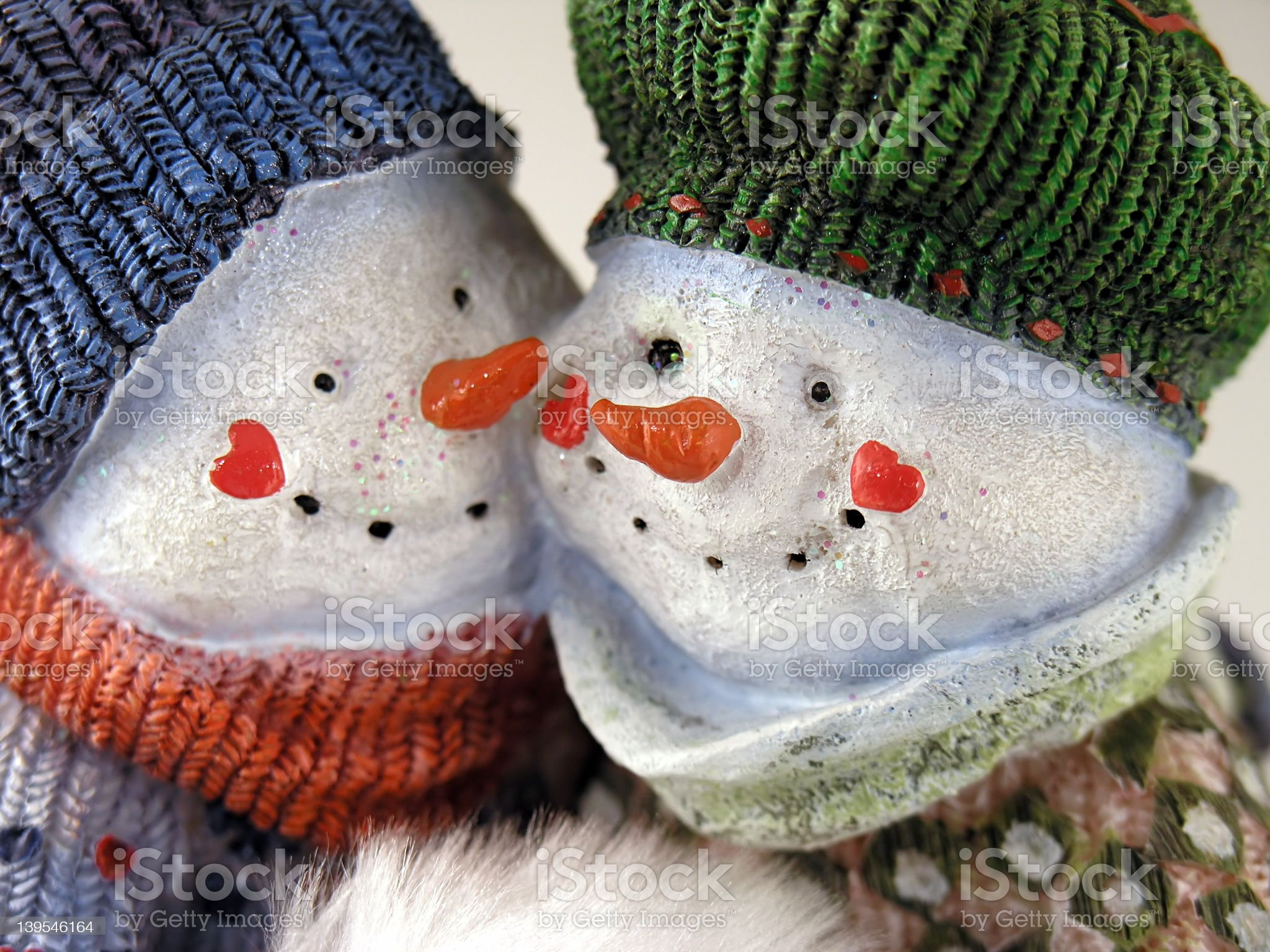 Snow Couple 2 royalty-free stock photo
