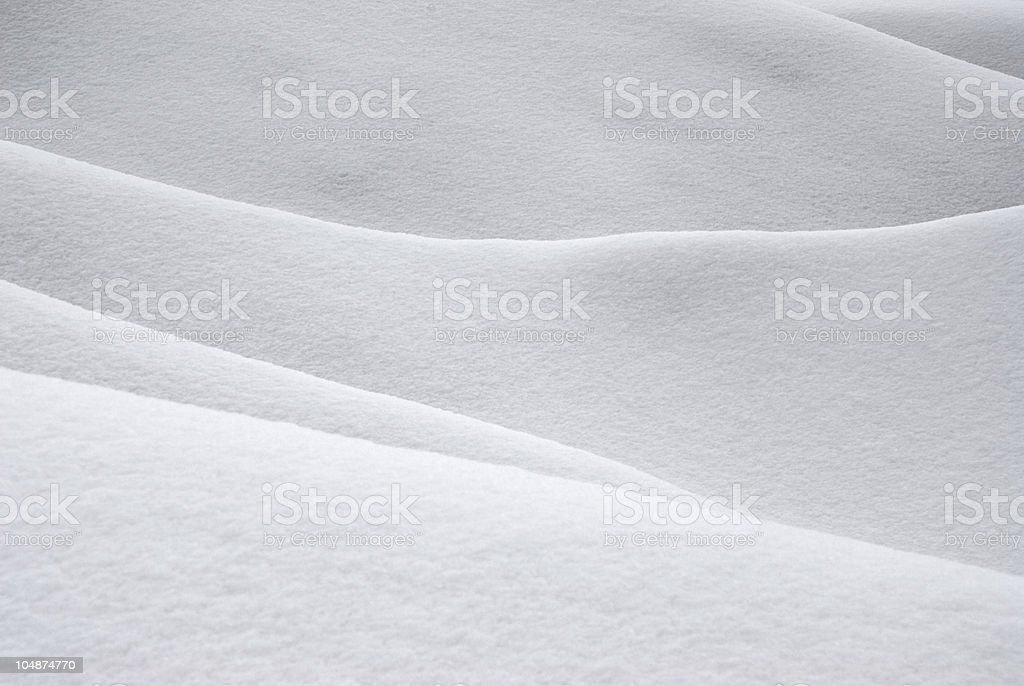 Snow Covered Hills stock photo