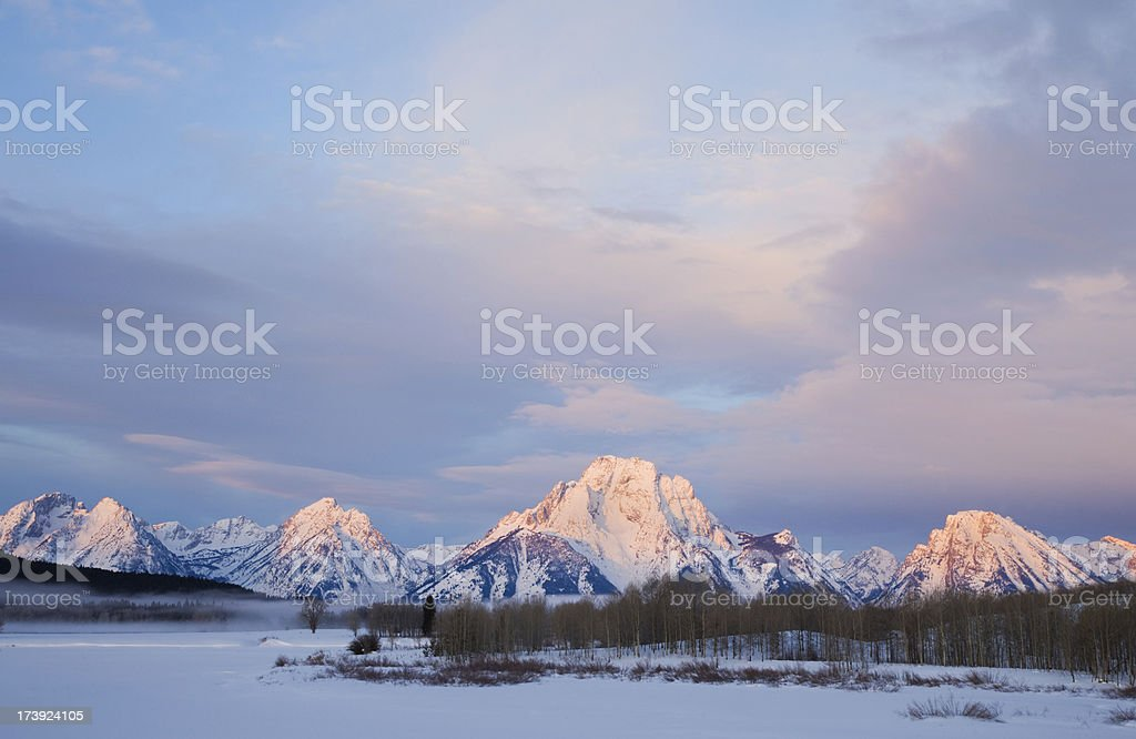 Snow Covered Mountain Range royalty-free stock photo