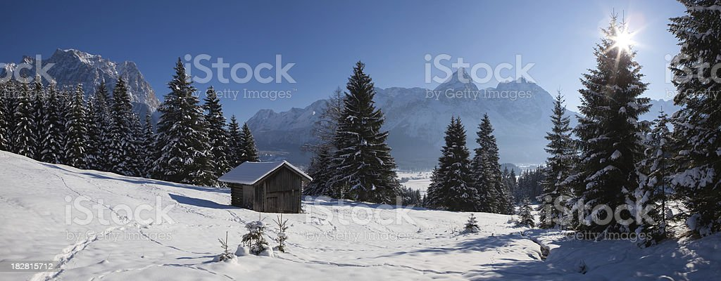 snow covered scene in tirol - austria royalty-free stock photo