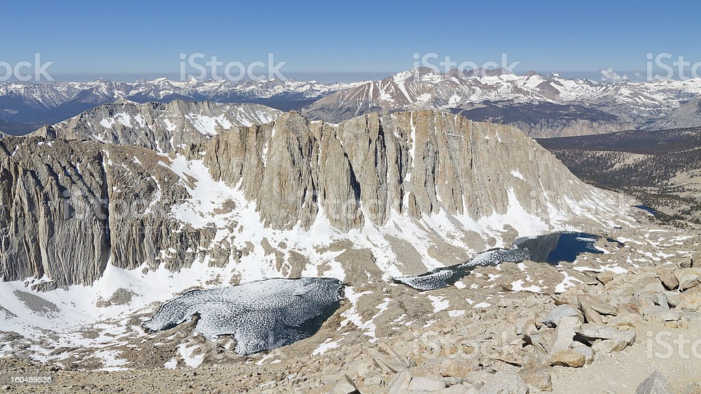 Snow Covered Sierra Nevada royalty-free stock photo