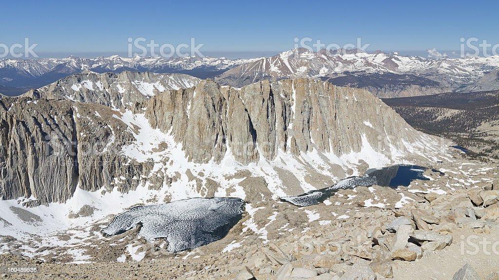 Snow Covered Sierra Nevada stock photo