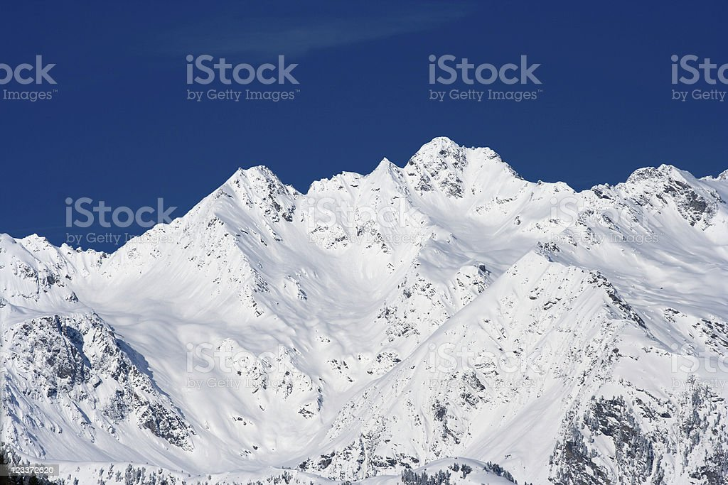 Snow Covered Winter Mountains royalty-free stock photo