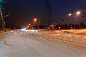 Snow covered winter road