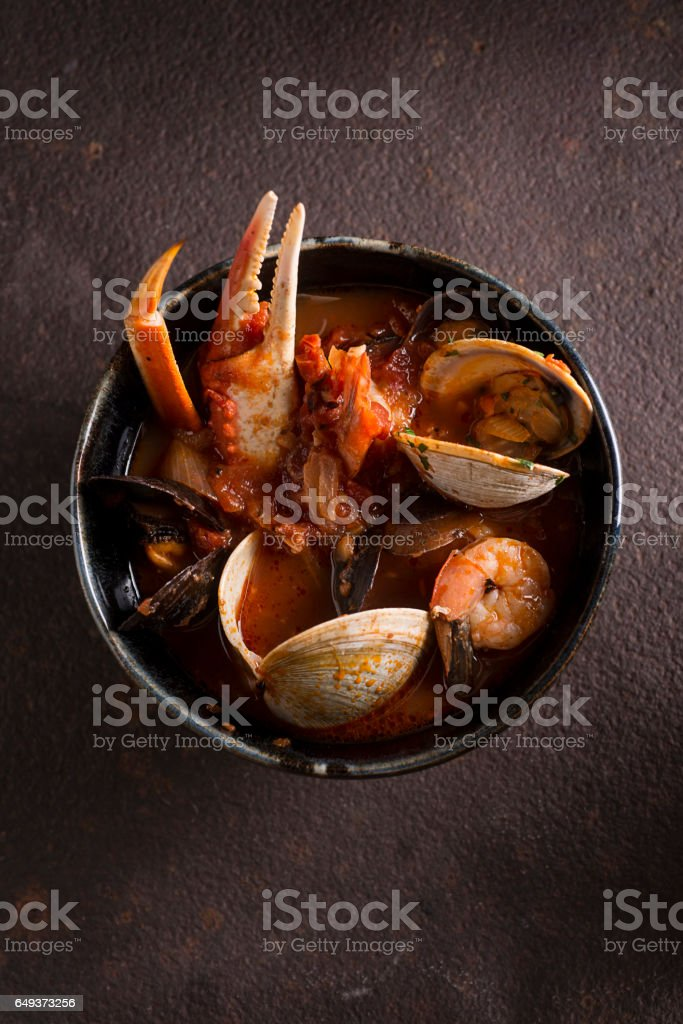 Snow Crab Cioppino stock photo