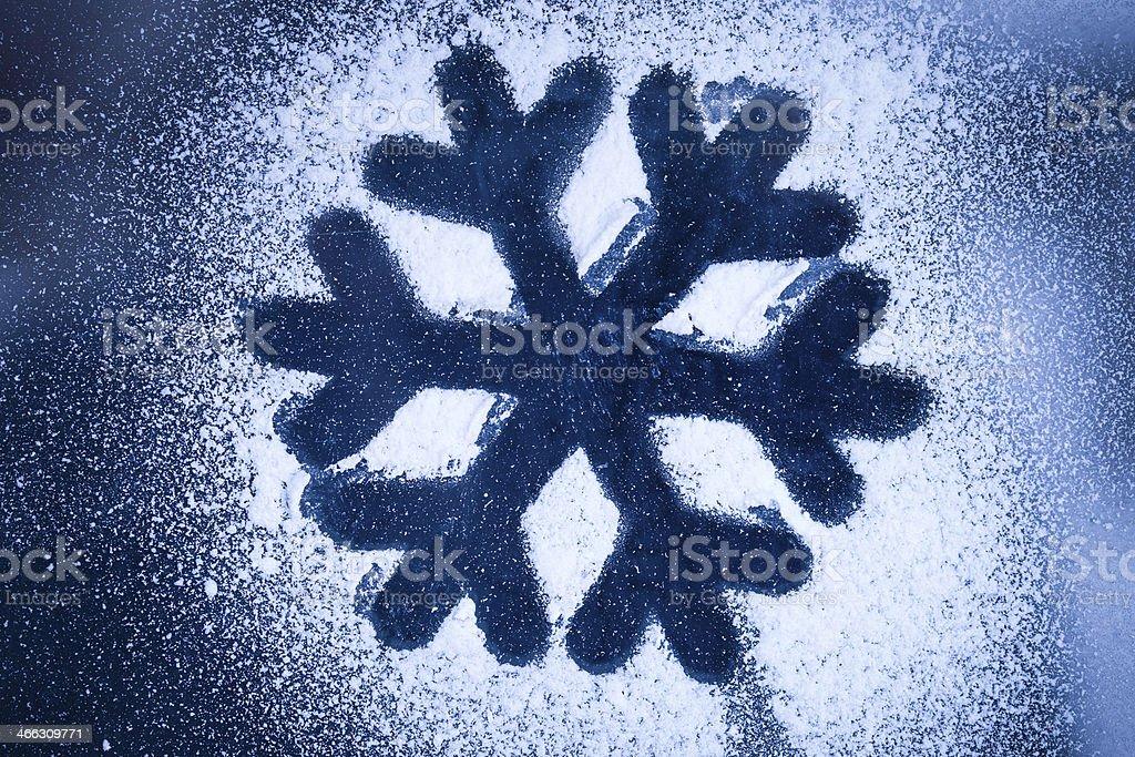 Cristaux de neige-pochoir-art stock photo