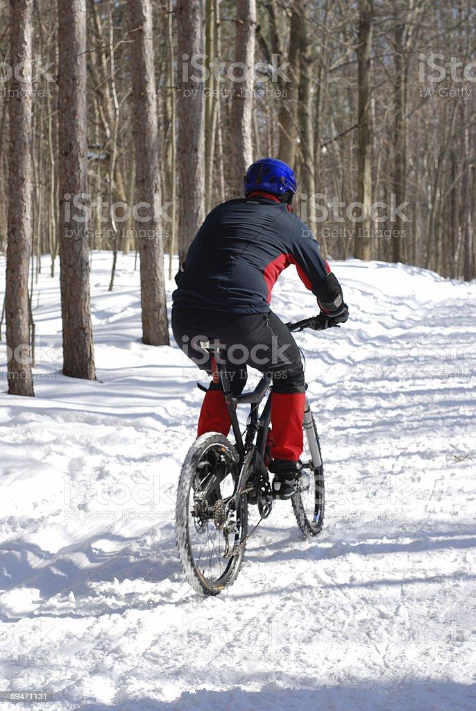Snow cyclist royalty-free stock photo
