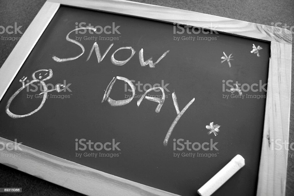 Snow day stock photo