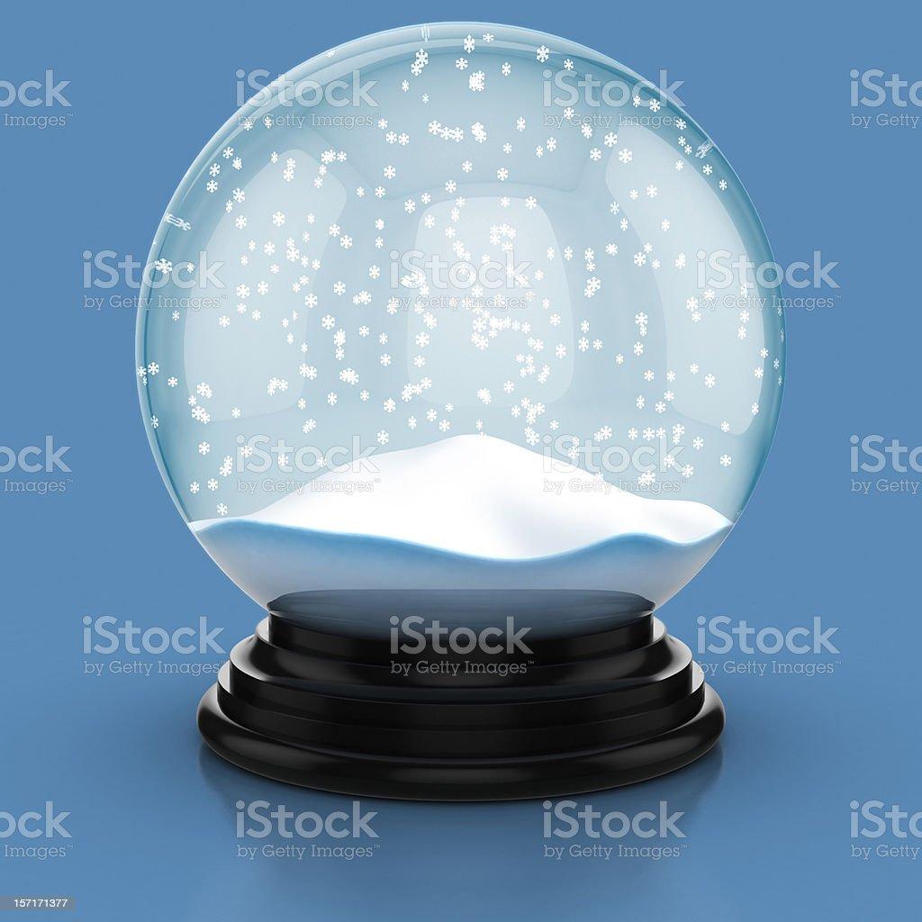 snow dome stock photo