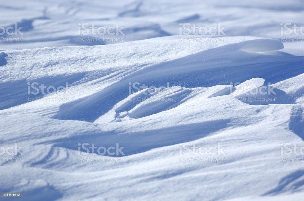 Snow Drifts stock photo