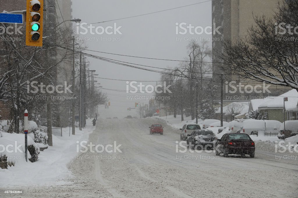 snow Driving stock photo