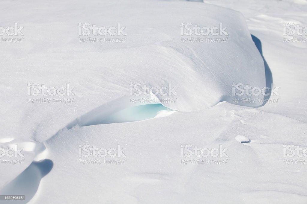 Snow dune stock photo