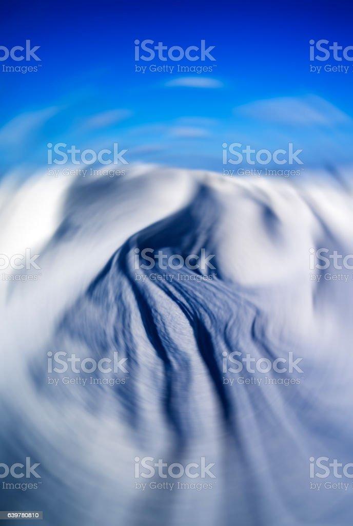 Snow dunes backdrop stock photo