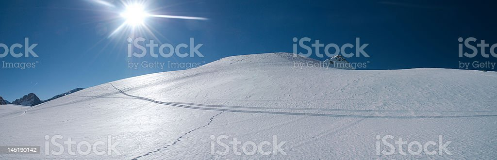 Snow dunes in the Alps royalty-free stock photo