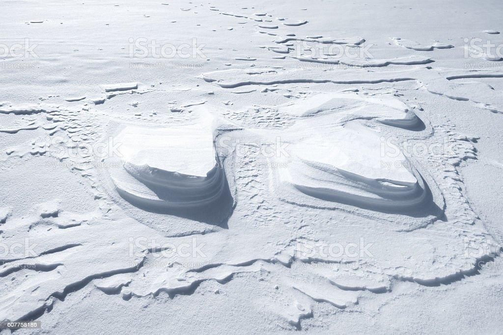 Snow Dunes stock photo