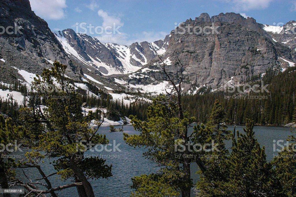 Snow Feed Lake stock photo