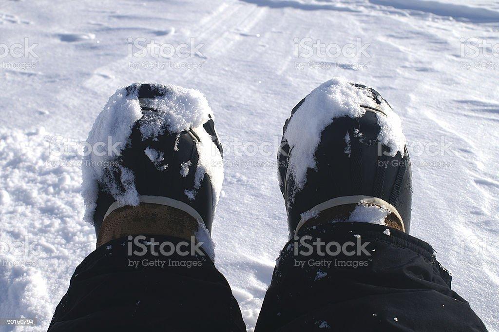 Snow feet royalty-free stock photo