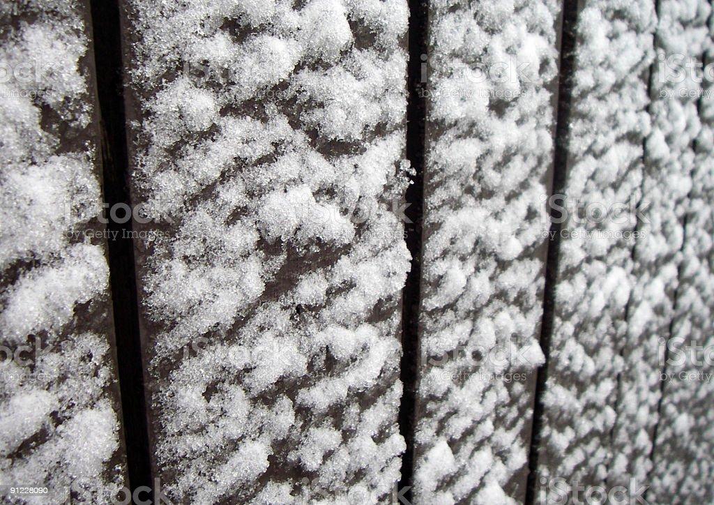Snow Fence stock photo