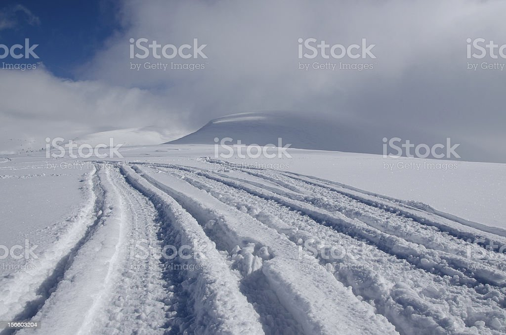 Snow field in mountain royalty-free stock photo